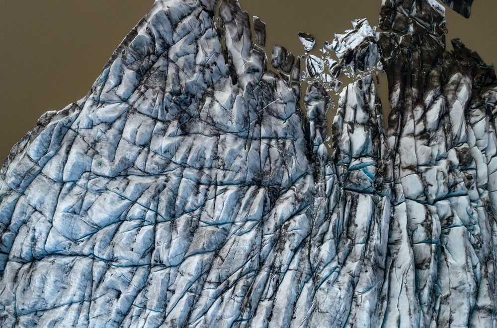 Küçülen buzdağı, İzlanda.