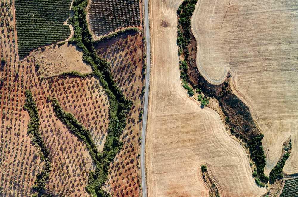 Yok olmuş nehirlerin izleri. Cantilana,İspanya