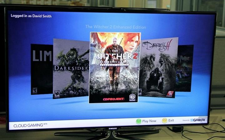 GaiKai'nin bulut bilişim destekli oyunları üst seviye Samsung Smart TV'lerde görüntülendi