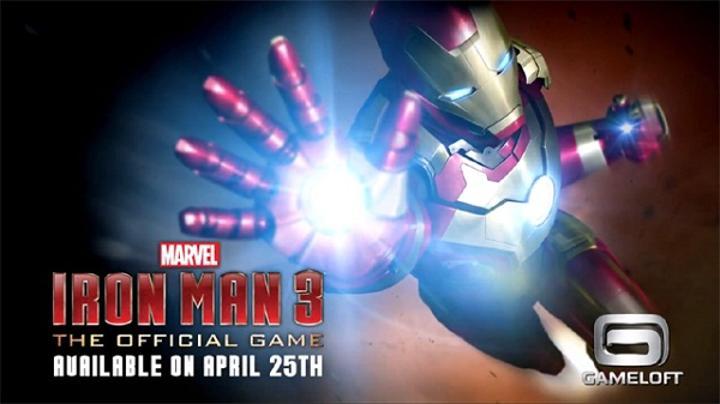 Iron Man 3'ün mobil oyunu, 25 Nisan tarihinde yayınlanacak