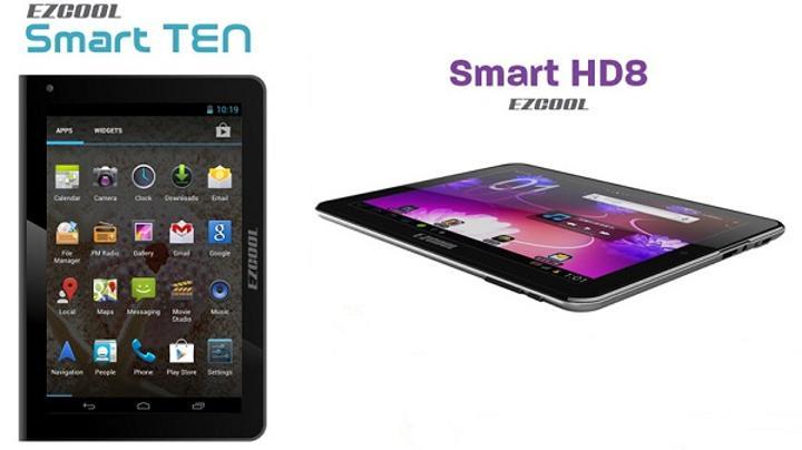 Ezcool, uygun fiyatlı Smart Ten ve Smart HD8 tabletlerini satışa sundu