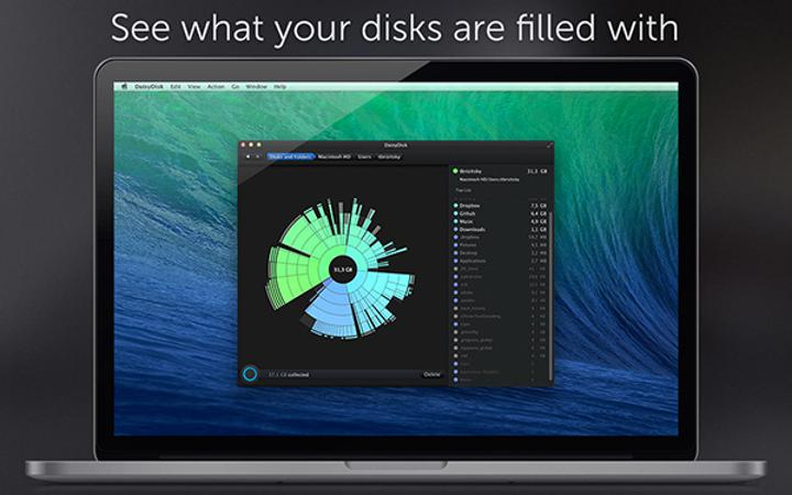 Disk bilgi ve temizleme uygulaması DaisyDisk, Mac sistemler için