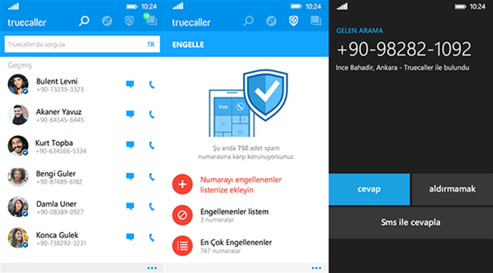 Windows Phone uyumlu Truecaller güncellendi