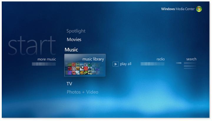 Windows Media Center vedaya hazırlanıyor