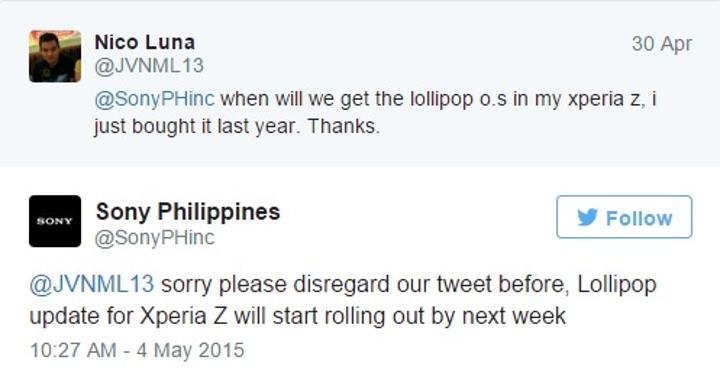 Sony Xperia Z için Lollipop güncellemesi önümüzdeki hafta başlıyor