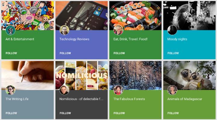 Google+ Koleksiyonlar hizmete girdi