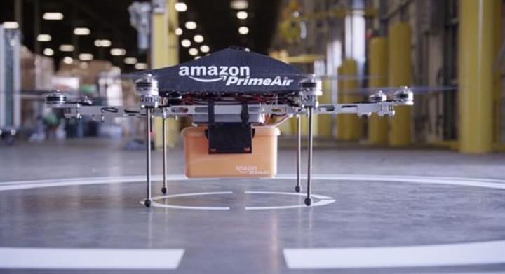 Amazon insansız hava araçları yardımıyla nerede olursanız olun kargonuzu teslim edebilecek