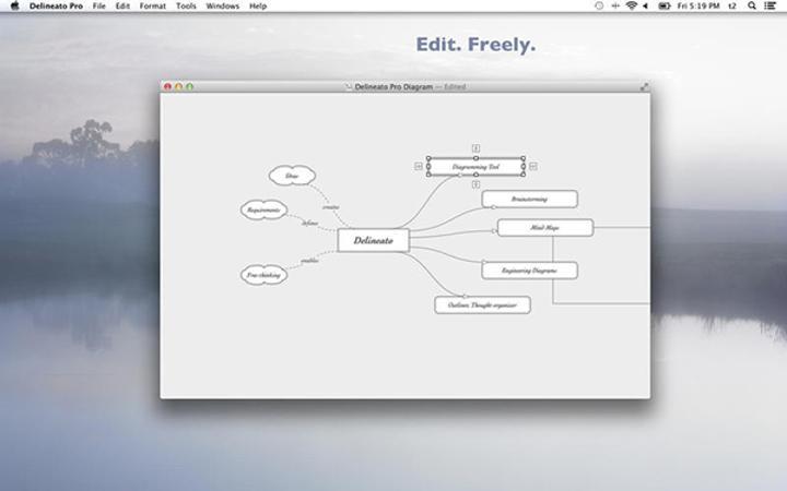 Mac uyumlu fikir haritası uygulaması Delineato Pro yeniden ücretsiz yapıldı
