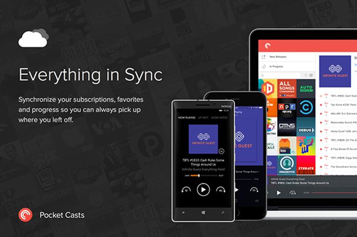 Windows Phone için Pocket Casts ilk güncellemesini aldı