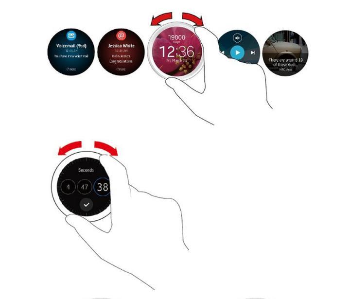 Samsung Gear A akıllı saatinin arayüzü ortaya çıktı
