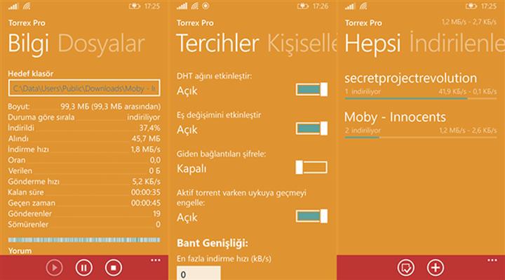 Windows Phone uyumlu Torrex Pro güncellendi