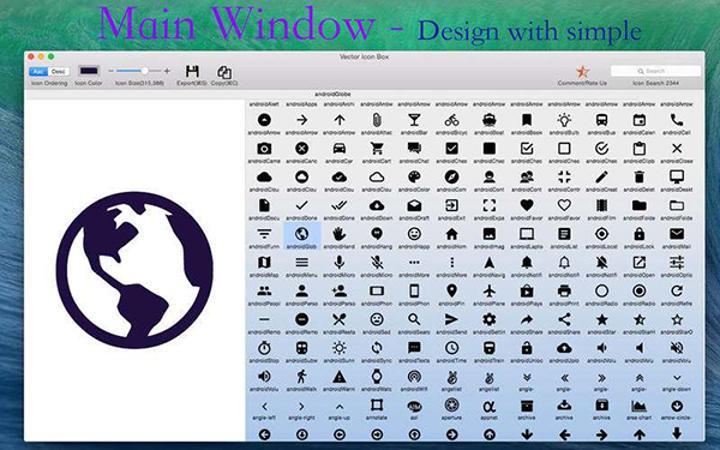 Mac için hazırlanan Vector Icon Box ücretsiz yapıldı