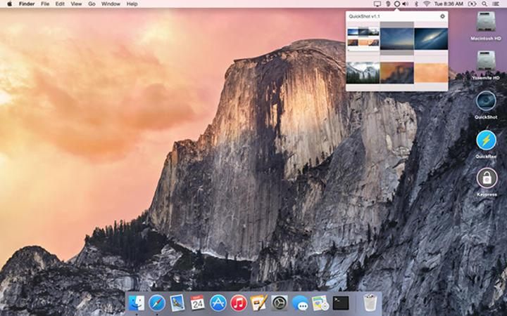 Mac uyumlu QuickShot uygulaması artık ücretsiz