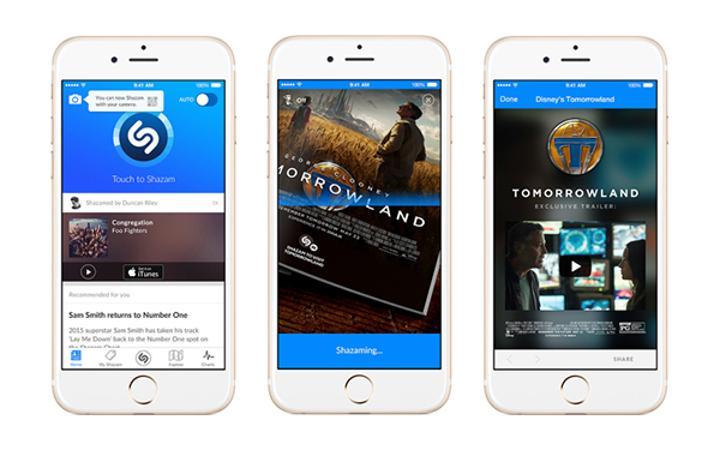 Shazam, görsel tanımlama sürecini devreye soktu