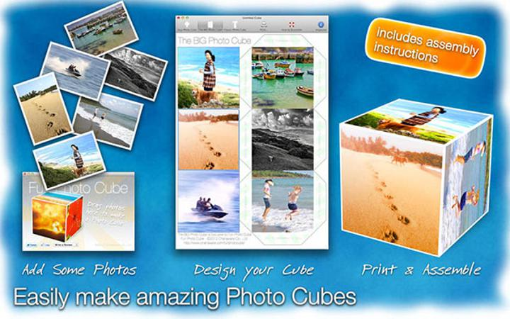 Mac uyumlu Fun Photo Cube artık ücretsiz