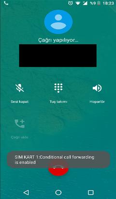 Koşullu çağrı yönlendirme aktif bildirimi alıyorum  » Sayfa 1 - 1