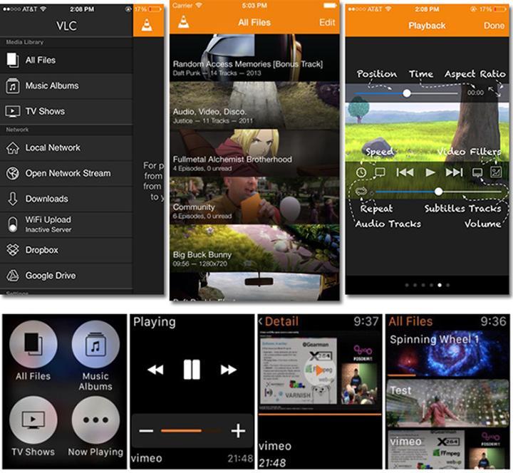 iOS için VLC, Apple Watch desteği kazandı