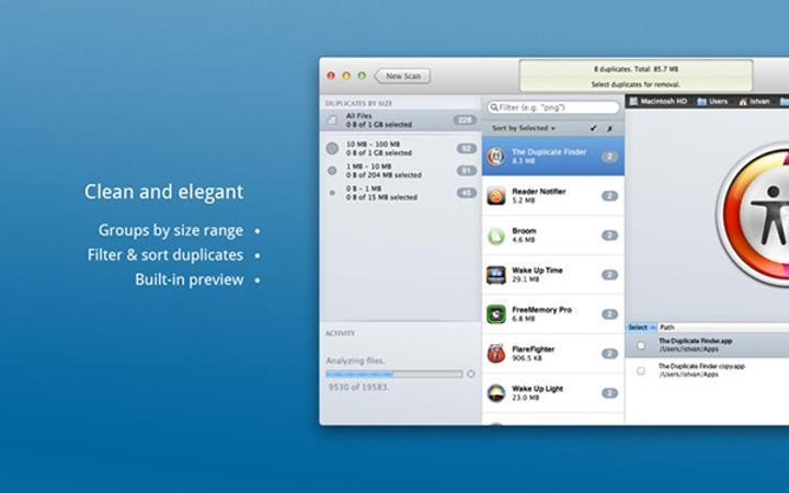 Mac uyumlu Duplicate Finder artık ücretsiz