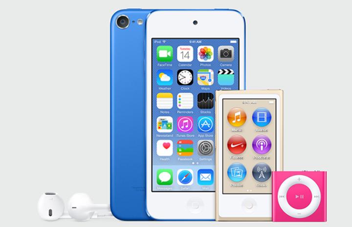 iTunes 12.2 içerisinde yeni iPod'lar ortaya çıktı