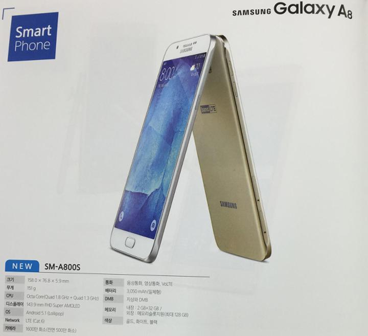Samsung Galaxy A8 broşürleri ortaya çıktı