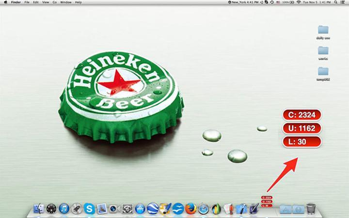 Mac uyumlu Word Count Icon artık ücretsiz