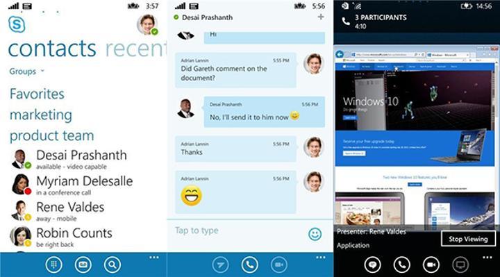 Windows Phone için Lync 2013'ün ismi