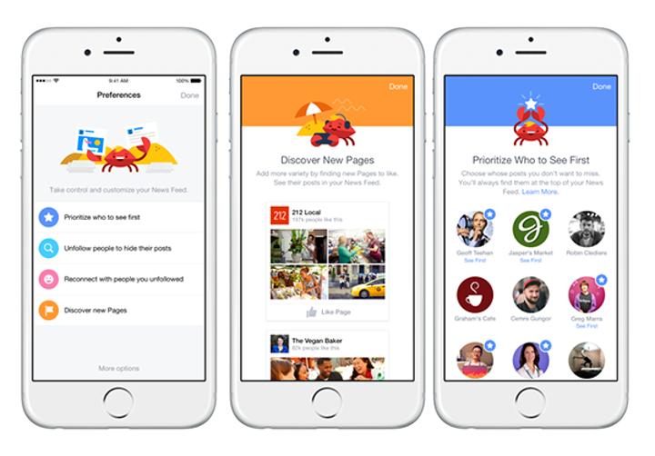 Facebook, haber kaynağı tercihleri bölümünü yeniledi