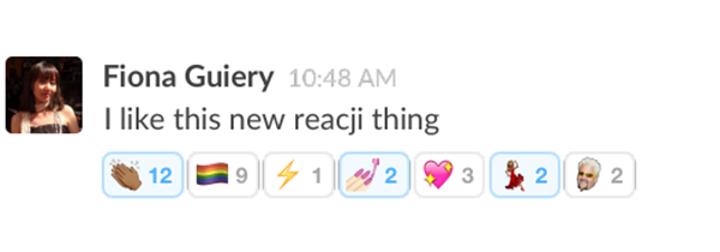 Takım odaklı mesajlaşma servisi Slack, emoji temelli favoriler sunmaya başladı