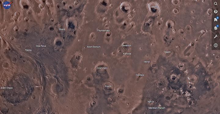 NASA'dan Kızıl Gezegen'in keşfi için özel site