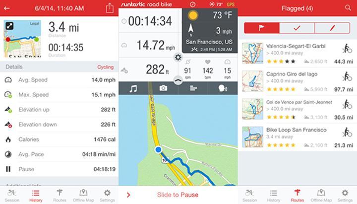 iOS için Runtastic Road Bike PRO ücretsiz yapıldı