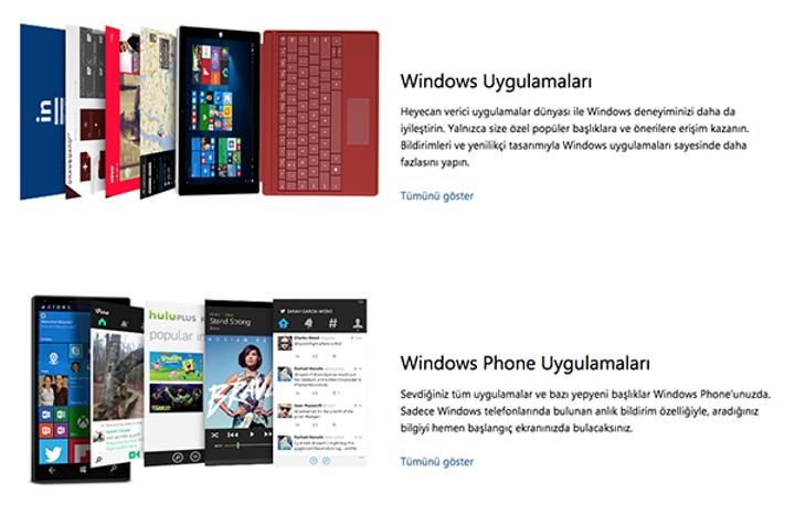 Microsoft, evrensel uygulama mağazasını hayata geçirdi