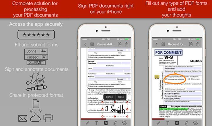 iOS için PDF Forms bugüne özel ücretsiz