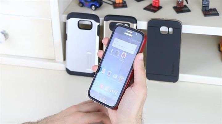 Samsung Galaxy S6 için metal zırh desteği
