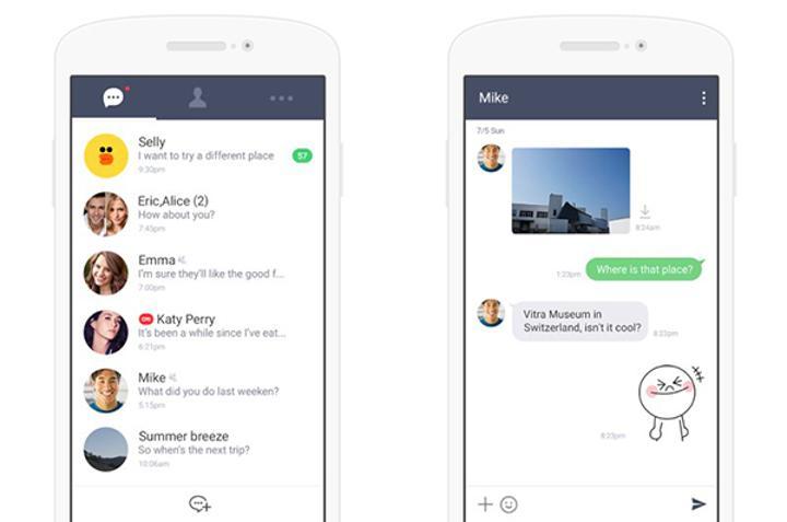 Line, Android cihazlar için