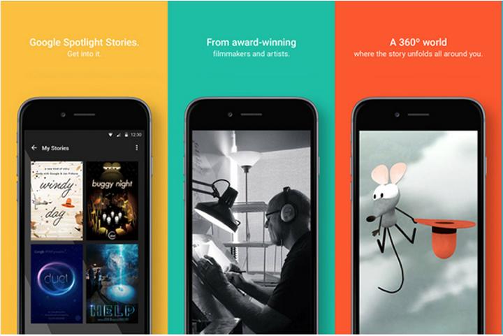 Google Spotlight Stories uygulaması iOS için kullanıma sunuldu
