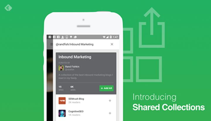 Feedly Pro kullancılarına özel yeni özellik: Shared Collections
