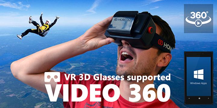 360 derece video odaklı uygulama Video 360 güncellendi