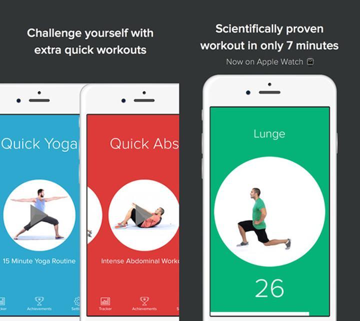 iOS uyumlu egzersiz uygulaması Quick Fit artık ücretsiz