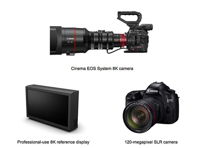 Canon inovasyona devam ediyor: 8K video kamera, 120MP DSLR, 8K monitör
