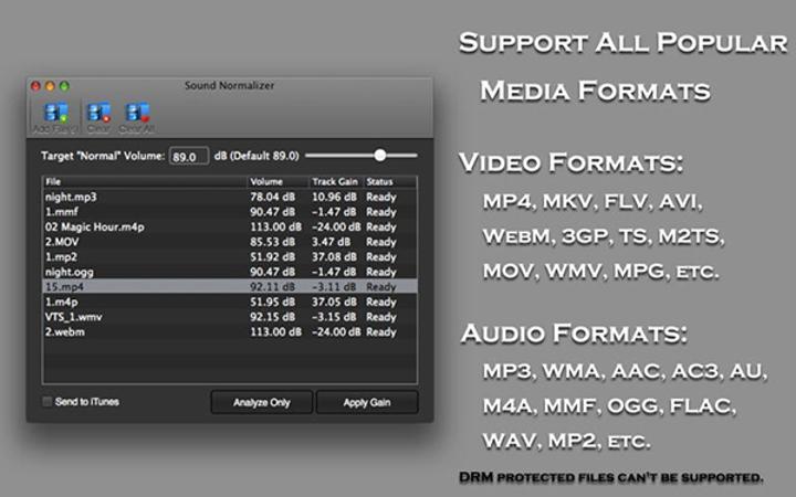 Mac uyumlu faydalı uygulama Sound Normalizer artık ücretsiz
