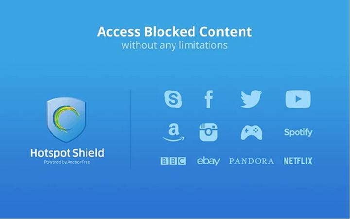 Chrome ve Firefox için Hotspot Shield
