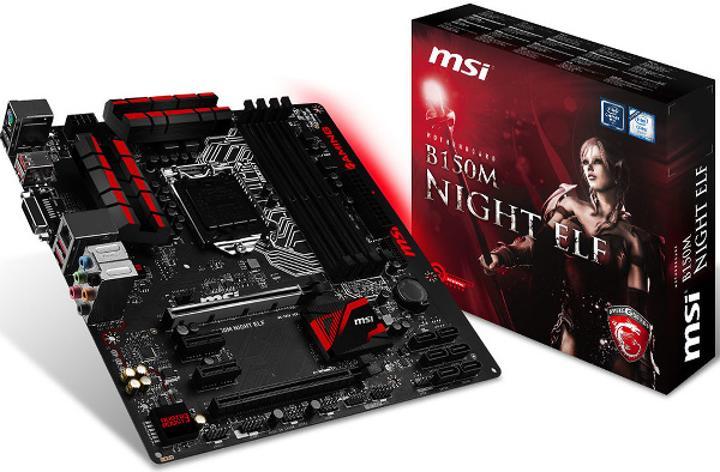 MSI'dan B150 çipsetli orta seviye Night Elf anakart