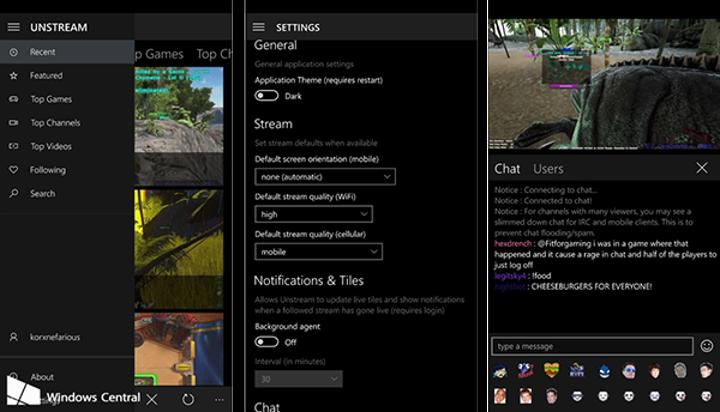 Resmi olmayan Twitch istemcisi Unstream, Windows dünyasında evrensel yapıldı