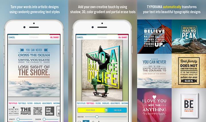 iOS uyumlu Typorama uygulaması ücretsiz yapıldı