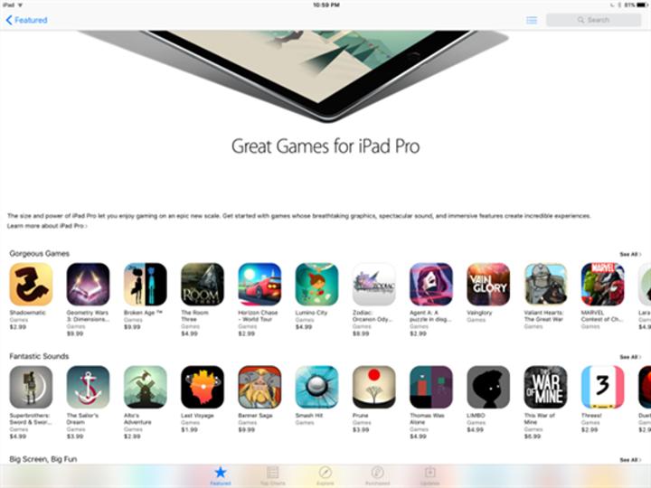 Apple'dan iPad Pro'ya özel uygulama sayfaları