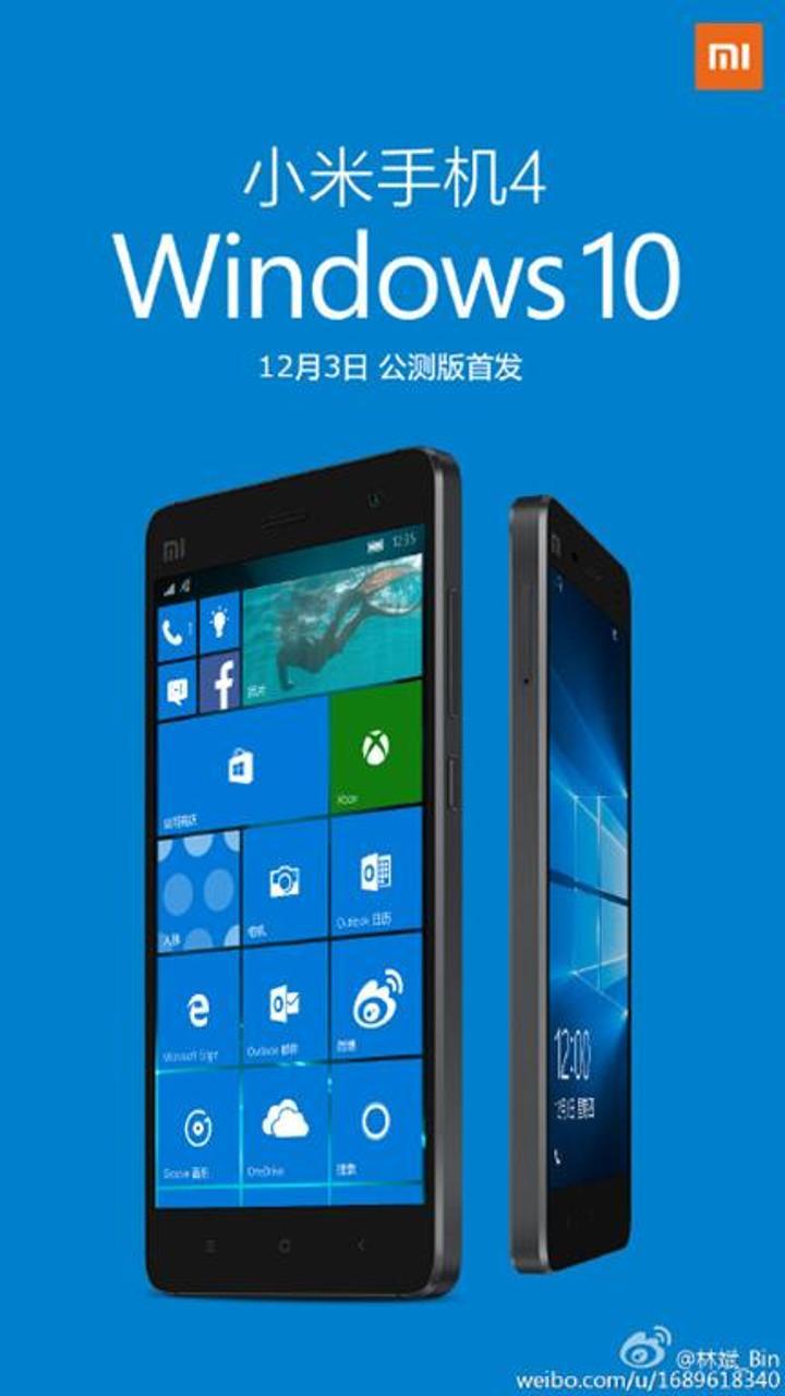 Xiaomi Mi4 için Windows 10 sürümü bu hafta yayınlanacak