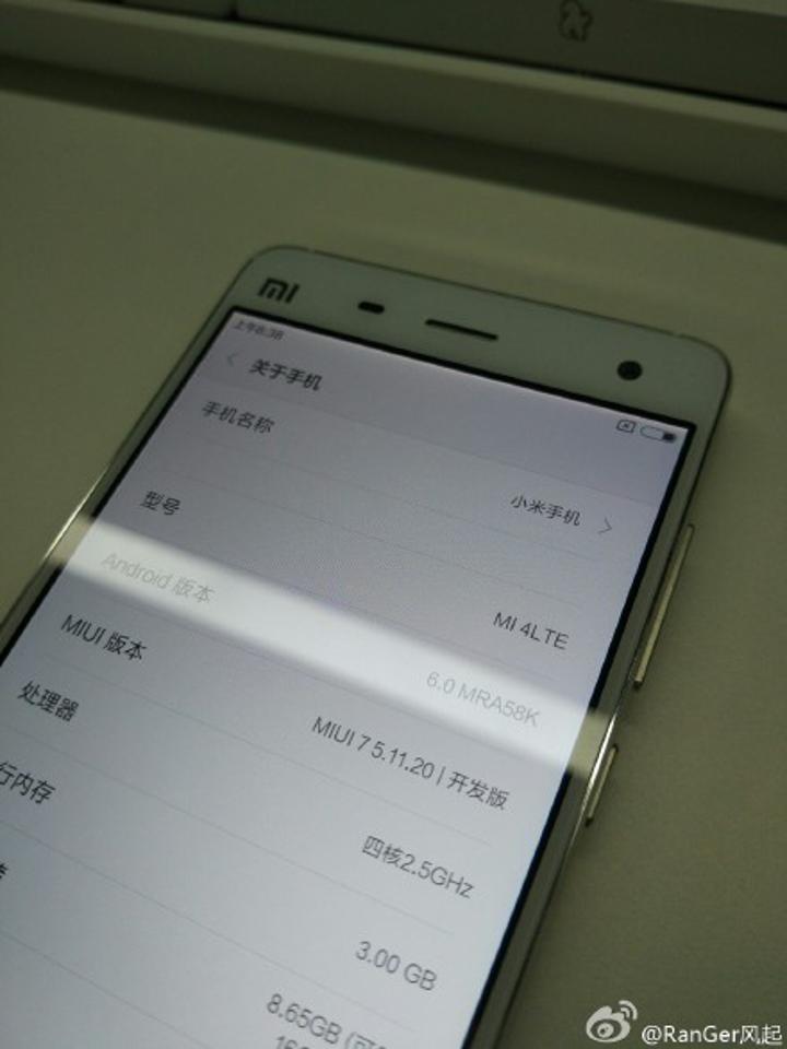 Xiaomi Mi 4 ve Mi Note için Android 6.0 güncellemesi yolda