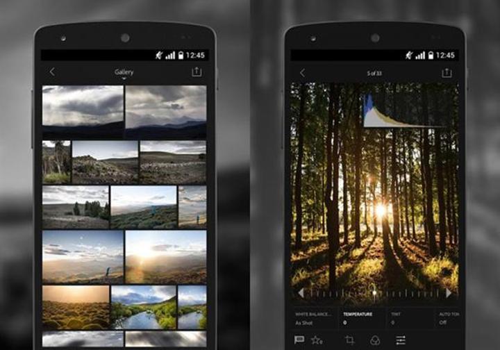 Adobe Lightroom, Android için ücretsiz yapıldı