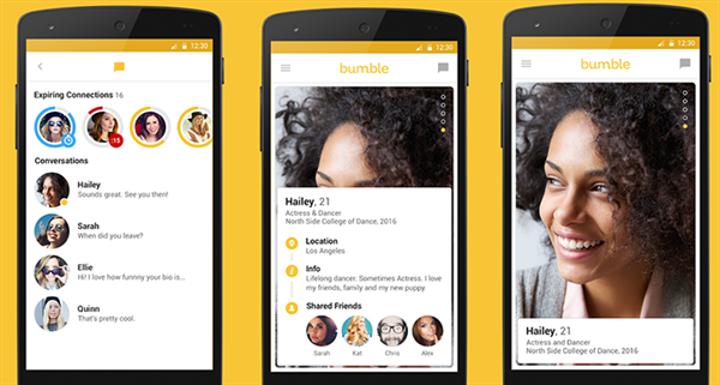 Çöpçatanlık uygulaması Bumble sonunda Android platformunda