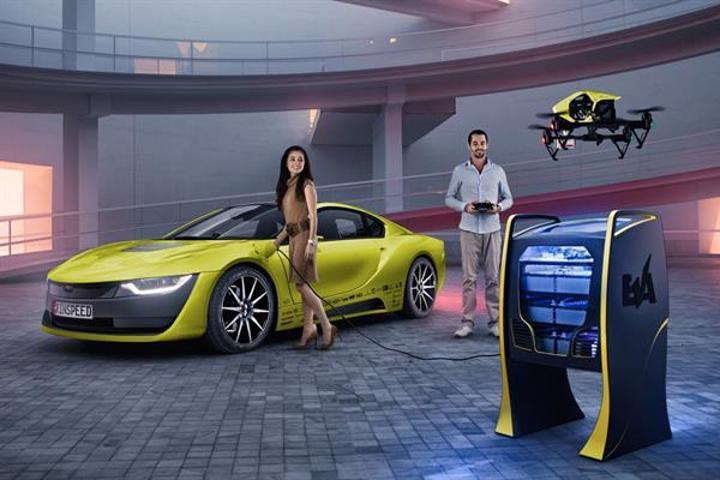 Dünyanın ilk drone destekli  insansız otomobiliyle tanışın: Rinspeed Σtos